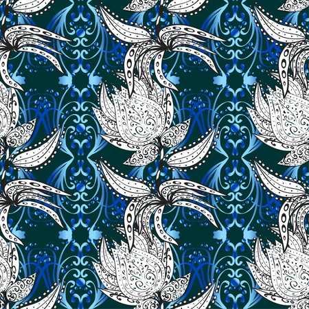 ethno: Traditional ornamental floral paisley pattern seamless design