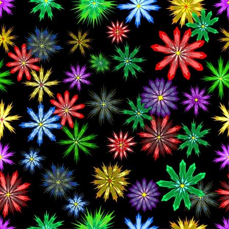 flores abstractas: textura transparente con flores abstractas Vectores