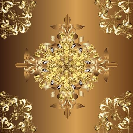 Golden gradient patterns. Vintage and luxury design Vector