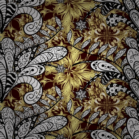 oldest: Abstract background of oldest style arabesque fabric for decoration and design Illustration