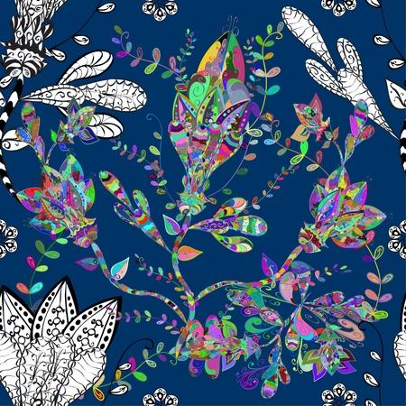 flores abstractas: Textura incons�til del vector con las flores abstractas.