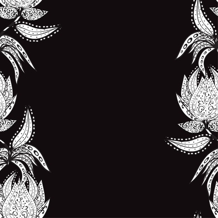 Vector abstract texture with abstract flowers. Endless background. Ethnic lace pattern. Vector backdrop. Bright pattern. Summer template. Use for wallpaper,pattern fills, web page background