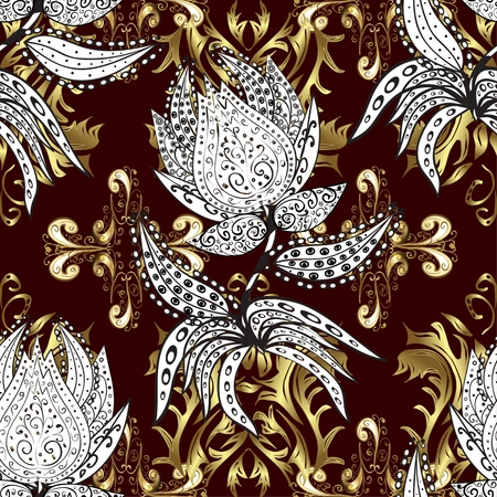 oldest: Abstract  background, royal, damask ornament, vintage, rich seamless pattern, luxury, artistic  wallpaper, floral, oldest style fashioned arabesque fabric for decoration and design