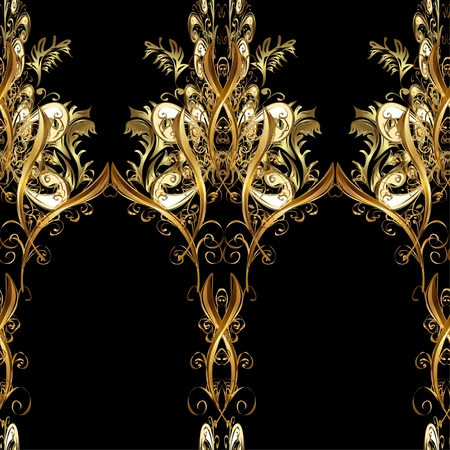 seamless damask: Abstract beautiful background, royal, damask ornament, vintage, rich seamless pattern, luxury, artistic vector wallpaper, floral, oldest style fashioned arabesque fabric for decoration and design