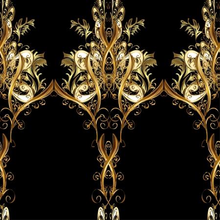 disegni cachemire: Abstract bella sfondo, reale, ornamento di damasco, vintage, ricco senza soluzione di modello, di lusso, artistico vettore wallpaper, floreale, più antico stile arabesco tessuto moda per la decorazione e design