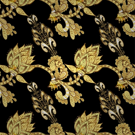 oldest: Abstract beautiful background, royal, damask ornament, vintage, rich seamless pattern, oldest style fashioned arabesque fabric for decoration and design