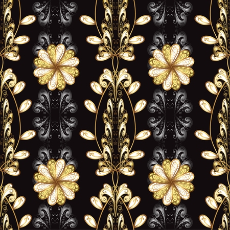 antique fashion: Abstract beautiful background, royal, damask ornament, vintage, rich seamless pattern, luxury, artistic vector wallpaper, floral, oldest style fashioned arabesque fabric for decoration and design