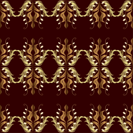 rojo oscuro: seamless texture with golden pattern on dark red background.