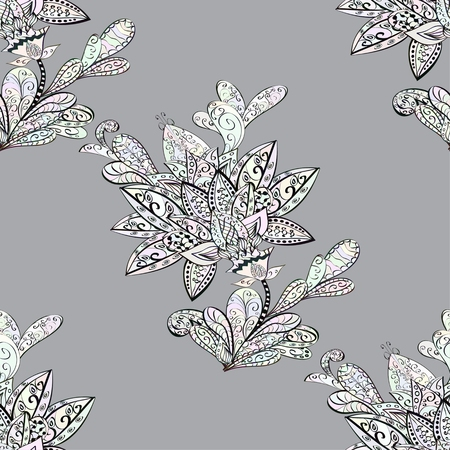 winter flower: Vector Floral Seamless Pattern Background. For Christmas and Invitation cards decoration