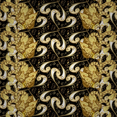 arabesque wallpaper: Abstract beautiful background, royal, damask ornament, vintage, rich seamless pattern, luxury, artistic vector wallpaper, floral, oldest style fashioned arabesque fabric for decoration and design