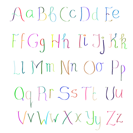 pinstripes: Colorful hand drawn alphabet made in vector. ABC for your design. Easy to use and edit letters. Illustration