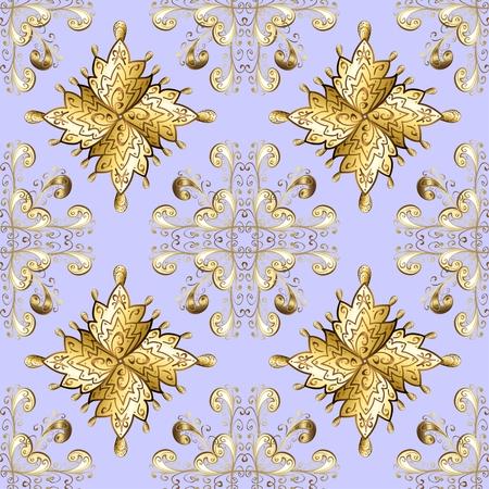 ornamente: vector seamless baroque texture on light background Illustration