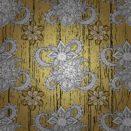dilapidated: Vintage gradient yellow background illustration with golden and white elements. Vector illustration. Illustration