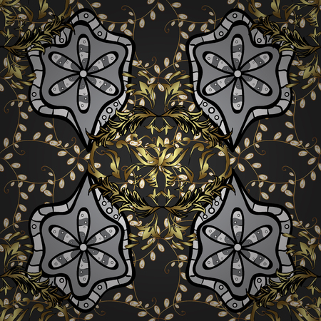 oldest: Vintage pattern on black background with golden and white elements.