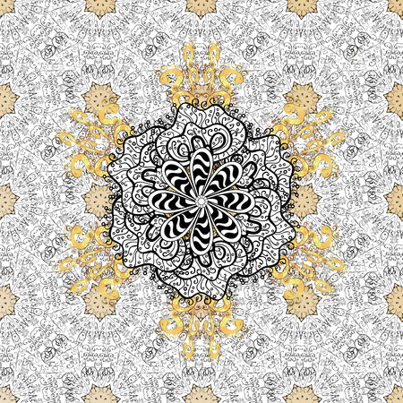 solemn: Vintage pattern on gray background with doodles elements.
