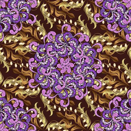 Floral seamless Background, vintage flowers. Vector illustration. Illustration