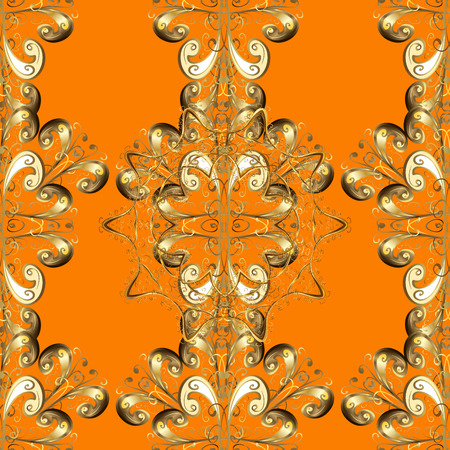 Seamless Background with Abstract Pattern, Curves, Lines and Figures. contains transparencies.