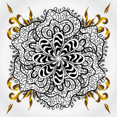 golde: mandala. circular monochrome pattern. vector illustration Illustration