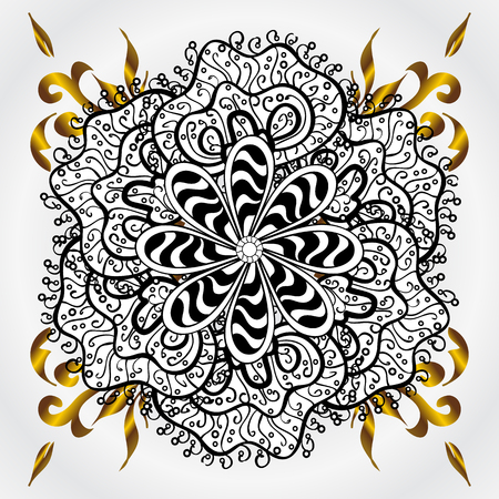 mandala. circular monochrome pattern. vector illustration Illustration