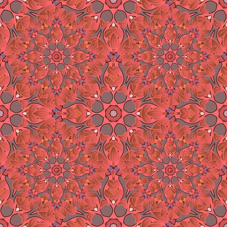 Vector seamless pattern mandala print. Vintage decorative elements. Hand drawn asian background. Arabic, nepali, Indian, ottoman, tibetan motifs. Illustration