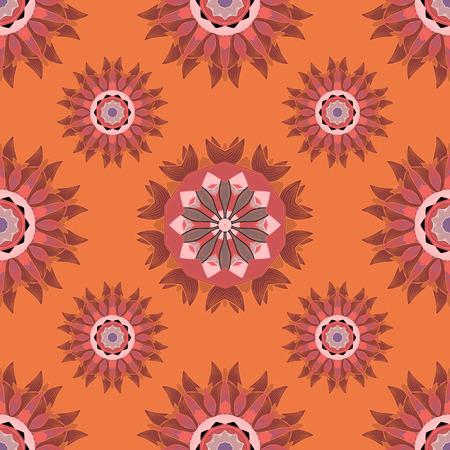 mandalas: Seamless pattern with Mandalas. Vector ornaments, background