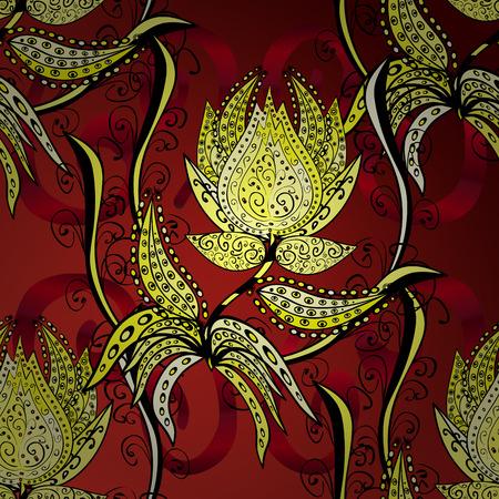 Vector Illustration Design Elements deep yellow on red gradient background Illustration