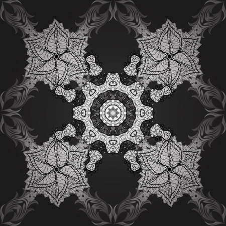Black and white seamless geometric pattern, tribal ethnic arabic indian ornament. Hand drawn abstract background with sketchy repeating texture.