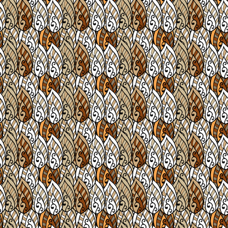 endlessly: Seamless background pattern. Will tile endlessly. Brown. White. Vector.