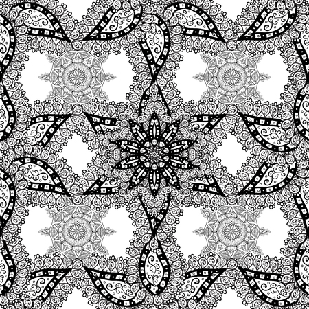 raster illustration: Abstract hand-drawn pattern with doodles on white background. Raster illustration