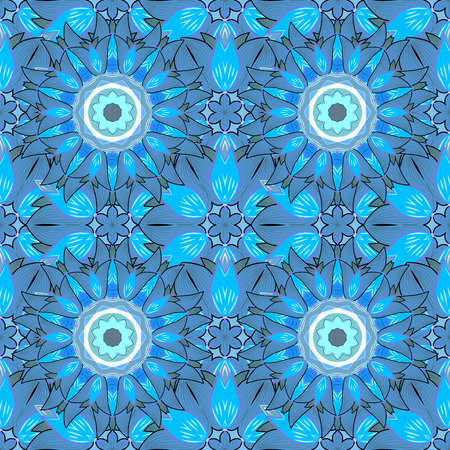 east indian: Mandala pattern,background. Vintage decorative ornament,background. East,Islam, Arabic,Indian,ottoman motifs,revival swirling.Blue Abstract Tribal,ethnic texture.Orient,symmetry lace,fabric,wallpaper