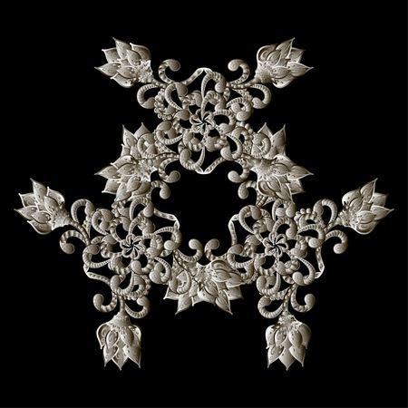 Christmas snowflake crystal precious. Beautiful jewelry, medallion, brooch, decoration on neck, mandala, frame. Fashion pattern brilliant stones, silver applique rhinestones, jeweler - stock vector Illustration