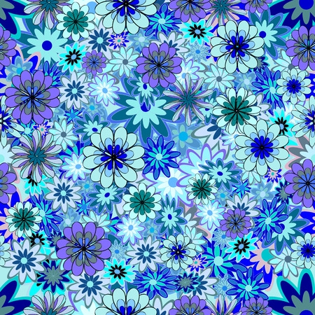 dearness: abstract blue petals flowers background. Vector illustration. Illustration