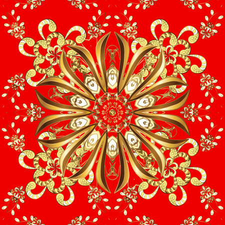 seamless abstract wallpaper with circles on a red background