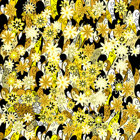 Raster flower pattern. Seamless cute spring or summer floral pattern. Background with flowers.