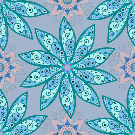 petal: Retro background dark floral blue pattern. Petal flowers. Vector. Illustration