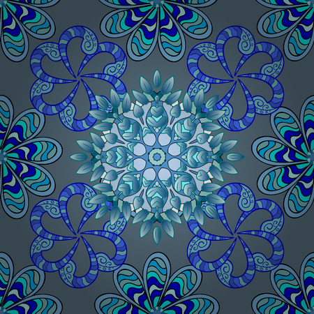 hidef: Wonderful abstract kaleidoscopic snowflake pattern with star structure. Adorable visuals for amazing intro. Illustration
