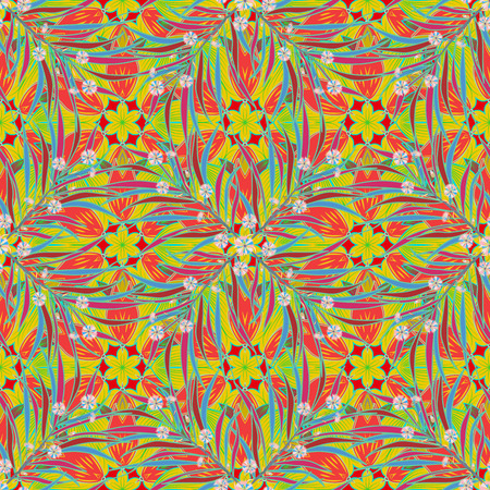 inclusion: Blue and green with inclusion of red and pink. The color contrast. Randomly mixed. Seamless abstract vector pattern
