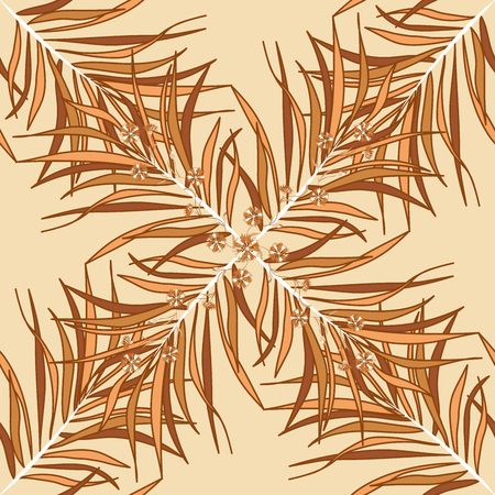 spica: Seamless pattern with brown grass. Beige. Raster.