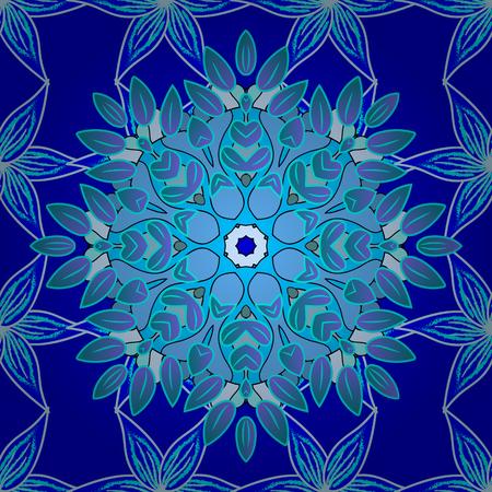 Seamless floral pattern. Seamless floral pattern of winter ornaments. Vector illustration. Illustration