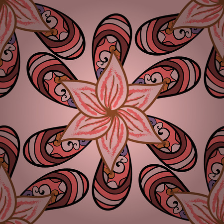 pink and brown background: Vector brown flower background. Texture for design. Dim pink.