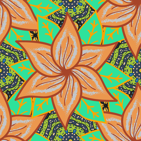 fantasy abstract seamless background. Flowers pattern. Vector.