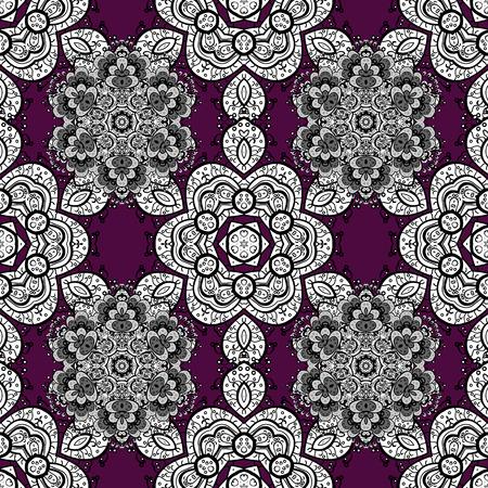 Mandalas Hintergrund. Rosa, schwarz, weiß. Gekritzel Vektor-Illustration. Vektorgrafik