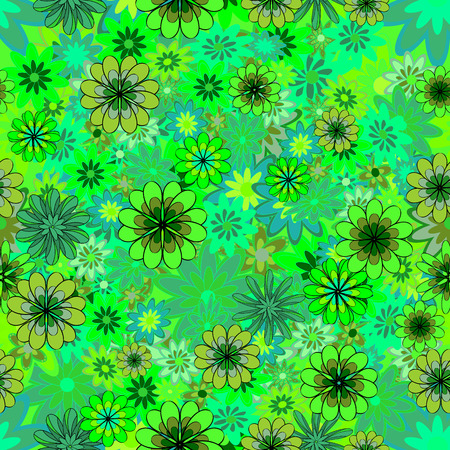 Floral seamless pattern with small flowers. vector illustration texture.