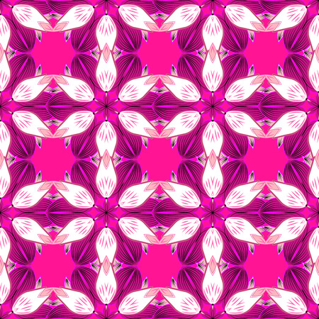 vector illustration of a seamless diamond pattern in pink and white