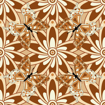 oriental rug: Mandalas background. vector illustration texture. Colorful elemets.