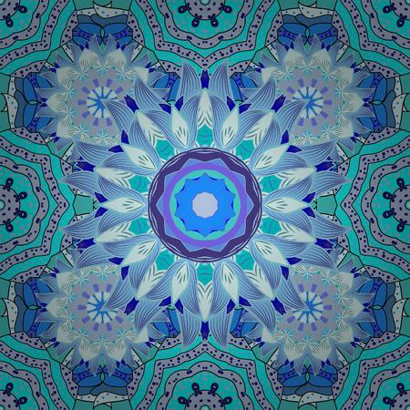 Mandalas background. vector illustration texture. Colorful elemets. Radial gradient shape.