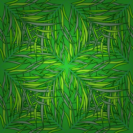 Seamless vector texture. Green grass, meadow grass pattern. Radial gradient shape.