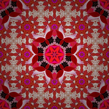 Mandalas background. Vector illustration texture. Colorful elements. Radial gradient shape. Çizim