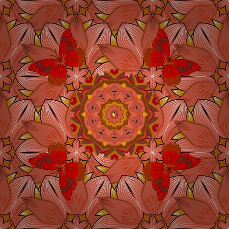 Radial gradient shape. raster illustration texture. Mandalas background. Colorful elements. Stock Photo