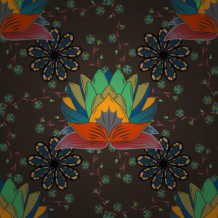 Raster-Illustration Textur. Mandalas Hintergrund. Radialverlaufsform. Standard-Bild